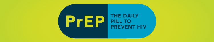 Banner promoting PrEP services