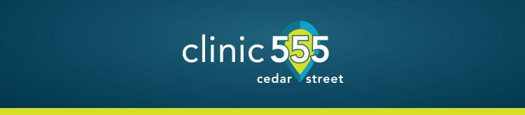 Clinic 555 logo banner.