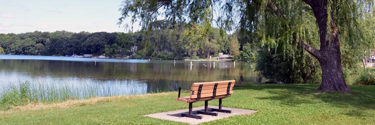 Be Active! Be Green! Bench at Lake McCarrons County Park