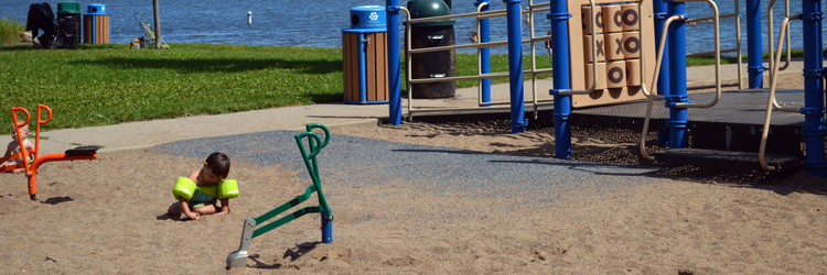 Play area at Lake Gervais County Park