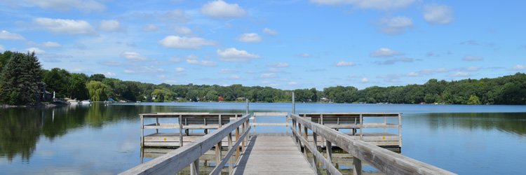 Fishing pier at Lake McCarrons County Park