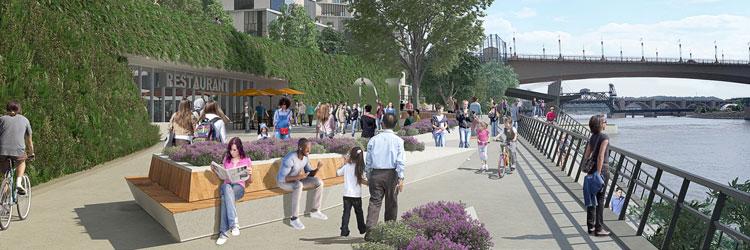 Riversedge plaza rendering