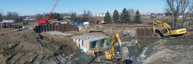 Culvert work at the Rice Creek Commons site