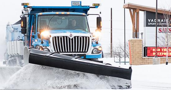 Ramsey County's fleet of 29 snow plows clear and de-ice suburban county roads.