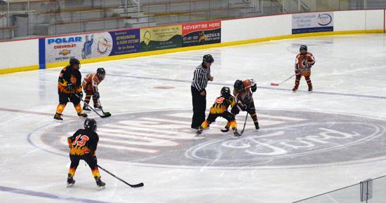Puck drop at Vadnais Sports Center