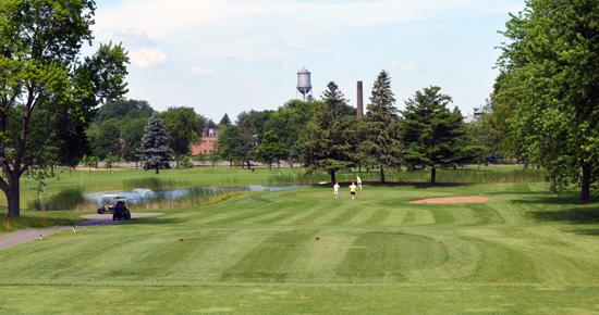 Goodrich Golf Course fountain